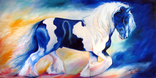 GYPSY VANNER STALLION by M BALDWIN (thumbnail)