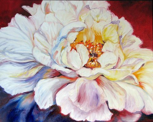 PINK PEONY 30 by M BALDWIN (large view)