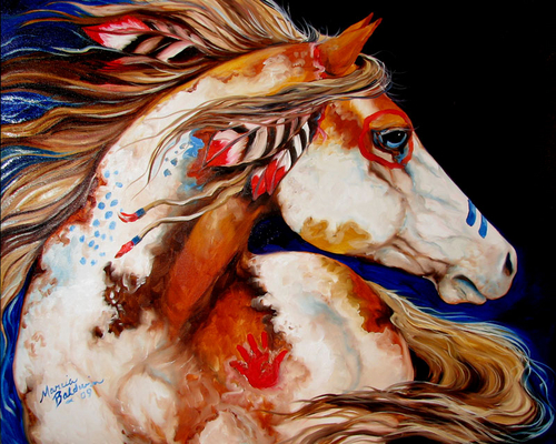 INDIAN WAR PONY by M BALDWIN (large view)