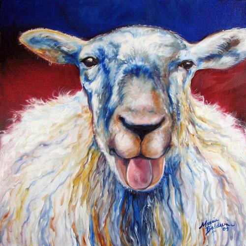 oh BAA MA ~ FUN FARM ANIMALS by M BALDWIN (large view)