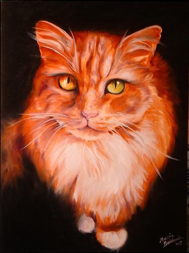 Painting--Oil-AnimalsSWEET KITTY TABATHA