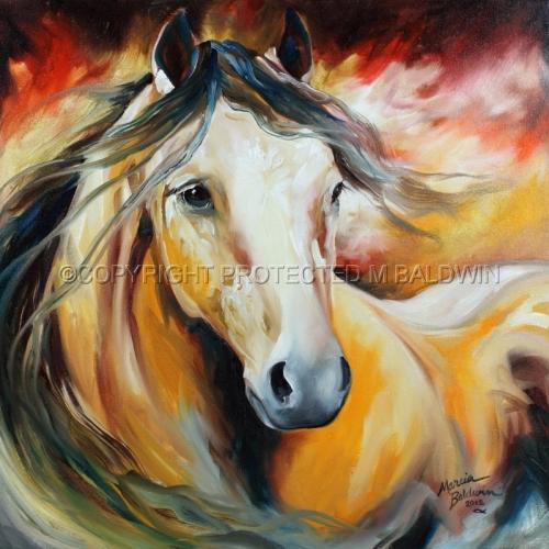 Painting--Oil-AnimalsBUCKSKIN WILD
