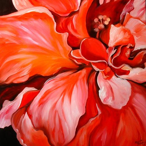 Painting--Oil-FloralRed Thrill