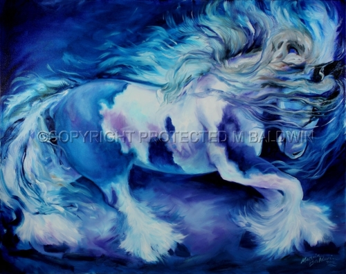 GYPSY VANNER in BLUE (large view)