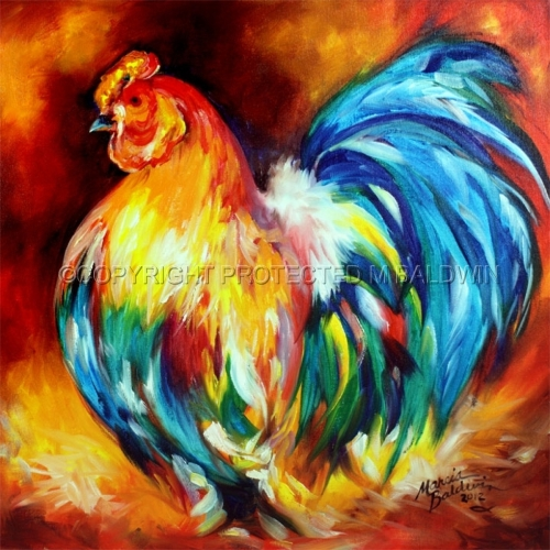 Painting--Oil-AnimalsBIG BOY ROOSTER