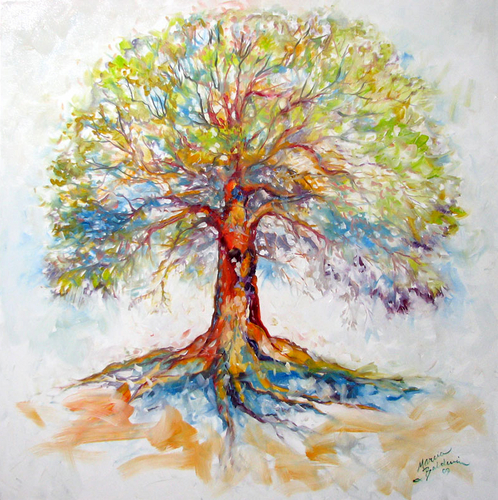 TREE of LIFE ~ HOPE by M BALDWIN (large view)