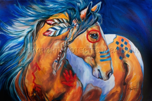 BOLD & BRAVE Indian War Horse (large view)