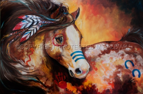TOBIANO INDIAN WAR HORSE (large view)