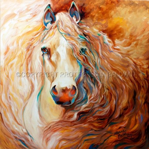 BLAZING MANE GOLDEN PALOMINO (large view)