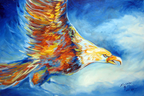 EAGLE by M BALDWIN ~ WILDLIFE ART (large view)