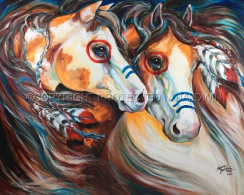 BRAVEHEARTS Indian War Horses