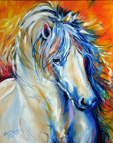 FIRE THUNDER EQUINE by M BALDWIN (large view)