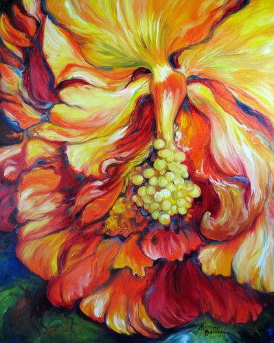 Painting--Oil-FloralTAHITIAN HIBISCUS