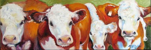 FAB FIVE COWS by M BALDWIN (thumbnail)