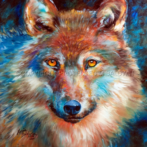 Wolf Painting Abstract