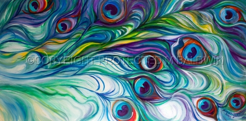 PEACOCK ABSTRACT (thumbnail)