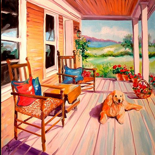 My Front Porch Pooch (large view)