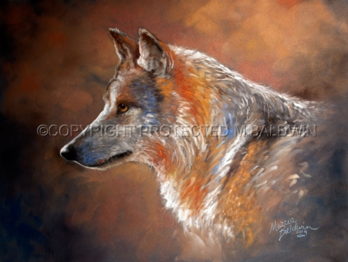 LONE WOLF PASTEL (large view)