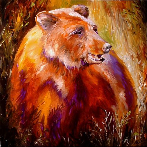 Painting--Oil-AnimalsBEAR BY M BALDWIN
