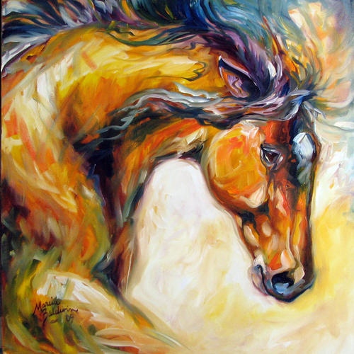 DETERMINATION ~ EQUINE ART ORIGINAL by M BALDWIN (large view)