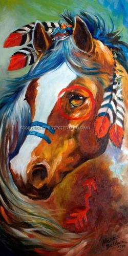 INDIAN WAR HORSE ~ BLAZE