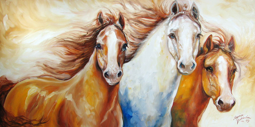 WILD HORSES by M BALDWIN (large view)