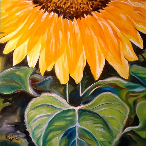 Painting--Oil-FloralSUNFLOWER ONE