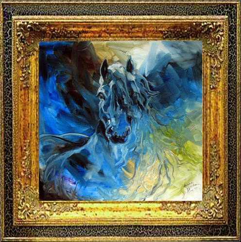 BLUE GHOST EQUINE ART by M BALDWIN (large view)