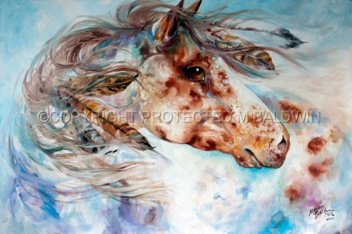 THUNDER APPALOOSA Indian War Horse (large view)