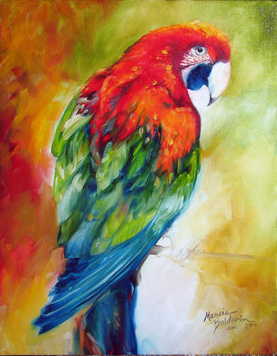 Oil Painting Birds