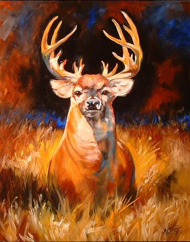 Painting--Oil-AnimalsBUCK