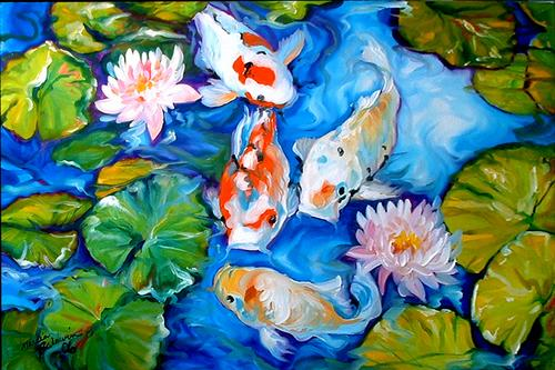 Four Koi (large view)