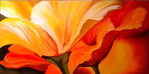 FLAME POPPY ABSTRACT
