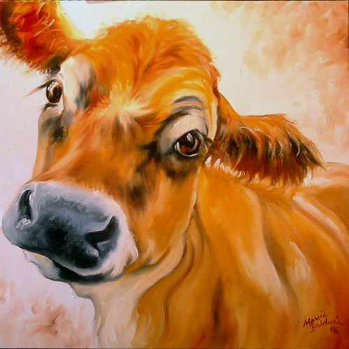 Painting--Oil-AnimalsMy Jersey Cow