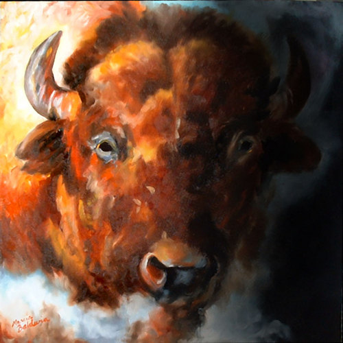 Painting--Oil-WildlifeBUFFALO MYSTIC