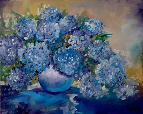 BLUE HYDRANGEA (large view)