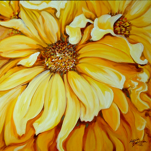 Painting--Oil-FloralYELLOW
