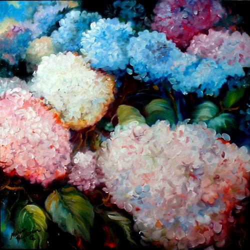 Painting--OilRAINBOW HYDRANGEA