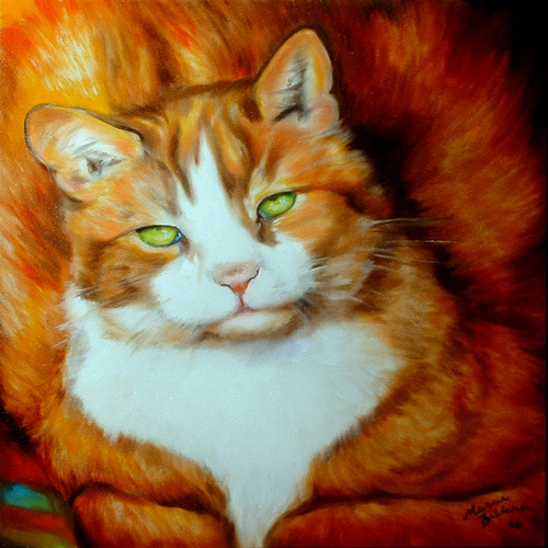 Painting--Oil-AnimalsMY FAT CAT