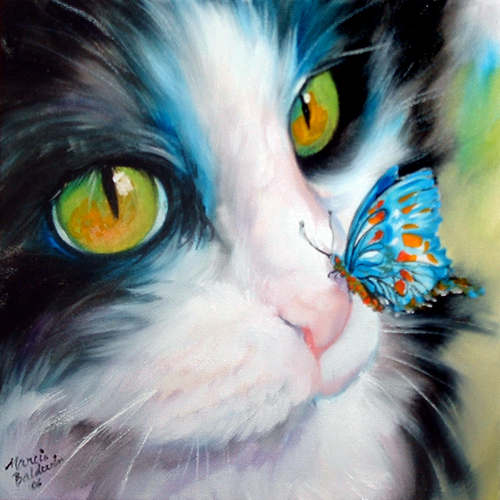 Painting--Oil-AnimalsBUTTERFLY