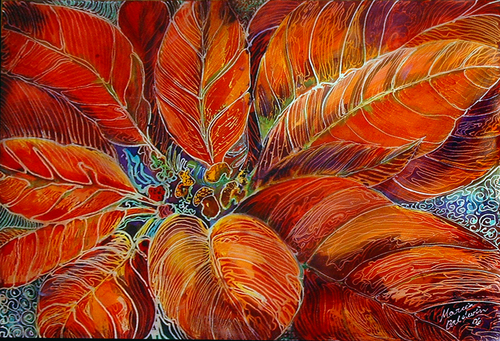POINSETTIA BATIK (large view)