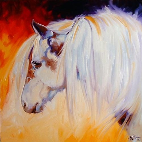 Painting--Oil-AnimalsLITTLE WARRIOR PONY