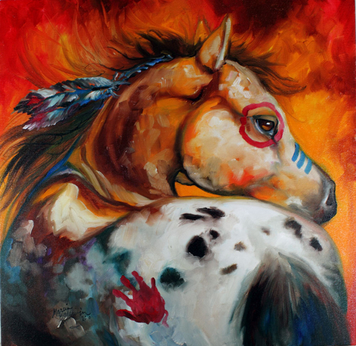 APPALOOSA INDIAN WAR PONY (large view)