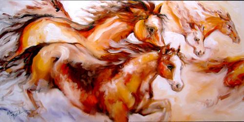 SPIRIT THUNDER ~ Equine Art Original (thumbnail)