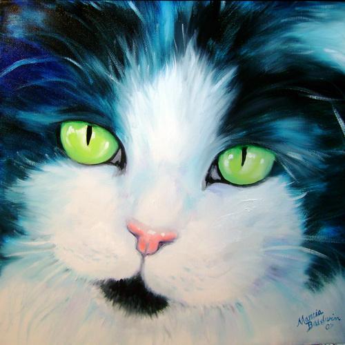 Painting--Oil-AnimalsSWEET KITTY DALILAH