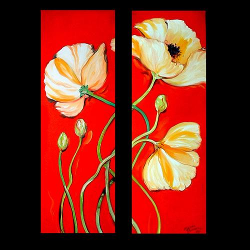 Painting--Oil-FloralPOPPY DANCE