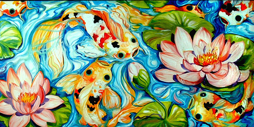 SIX KOI (large view)