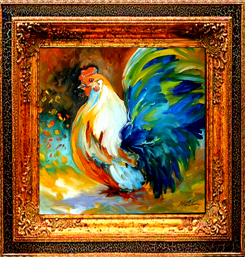 Painting--Oil-AnimalsROOSTER 30