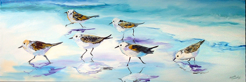 SANDPIPERS on the BEACH (thumbnail)