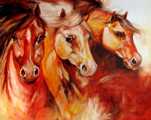 3 MUSTANGS by M BALDWIN ~ MAY 14 (large view)